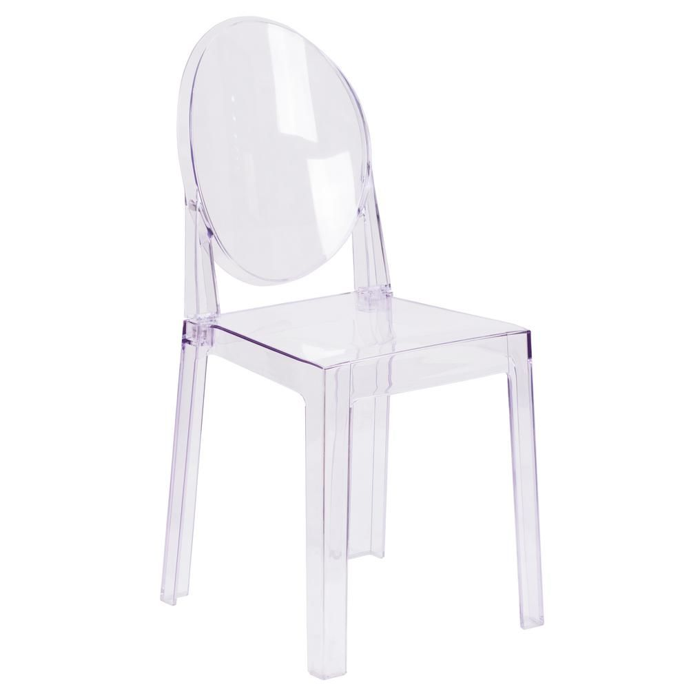 Flash Furniture Clear Accent Chair Transparent Crystal Chair