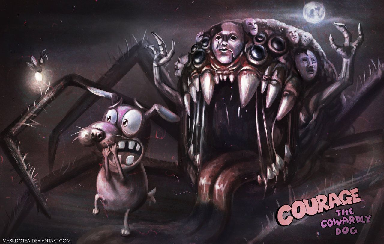 Courage The Not So Cowardly Dog By Stupchek On Deviantart