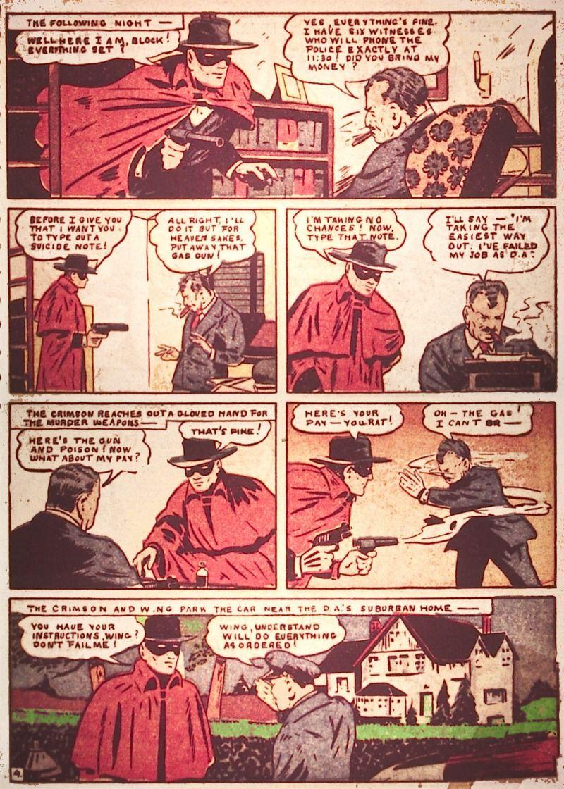 the crimson avenger art by jim chambers