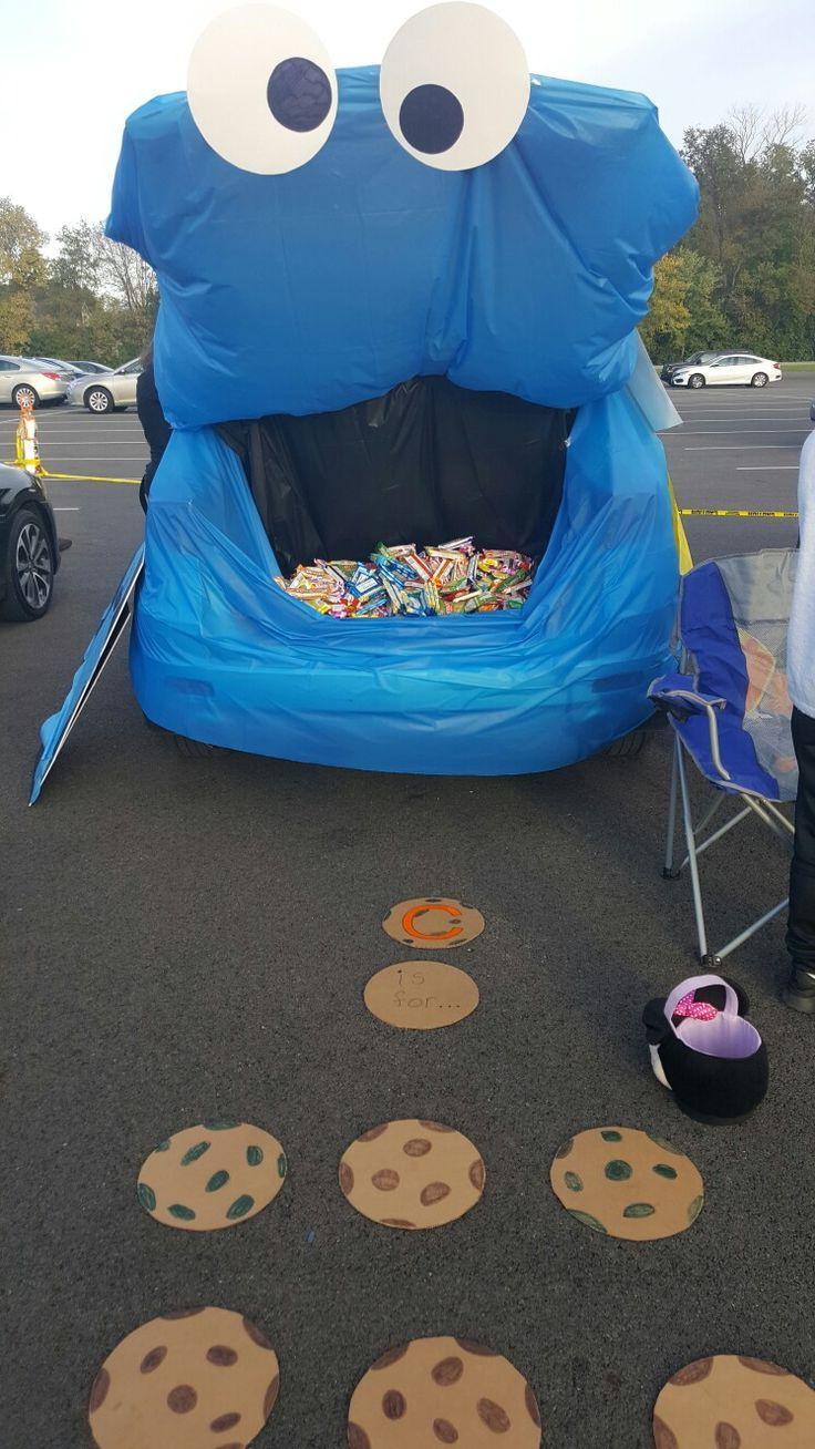 Cookie Monster Kofferraum oder zu behandeln   - Trunk or treat - #behandeln #Cookie #Kofferraum #Monster #oder #Treat #trunk #zu #trunkortreatideasforcarsforchurch