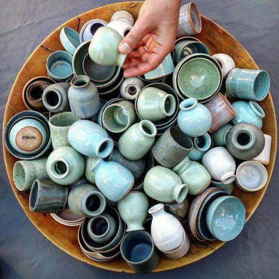 3 Handmade Miniature Pots Grab Bag Artist S Choice Please