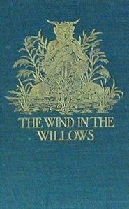 A beautiful old cover of The Wind in the Willows