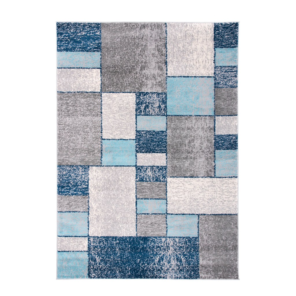 World Rug Gallery Monaco Distressed Squares Rug Rugs Area Rugs