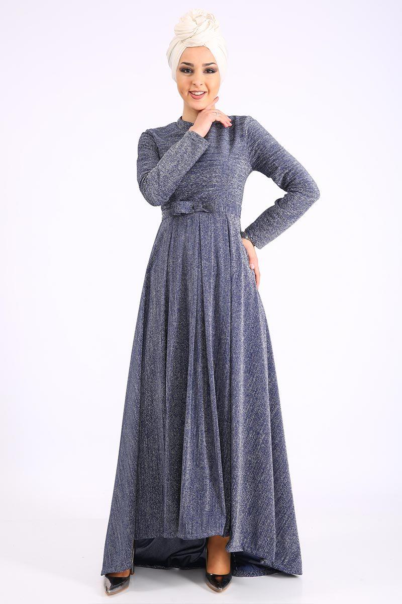 Simli Abiye Tsd9065 Lacivert Elbise Modelleri Elbise The Dress