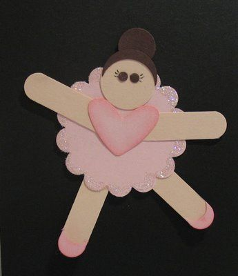 Ballerina Girl By Huffergirl Cards And Paper Crafts At