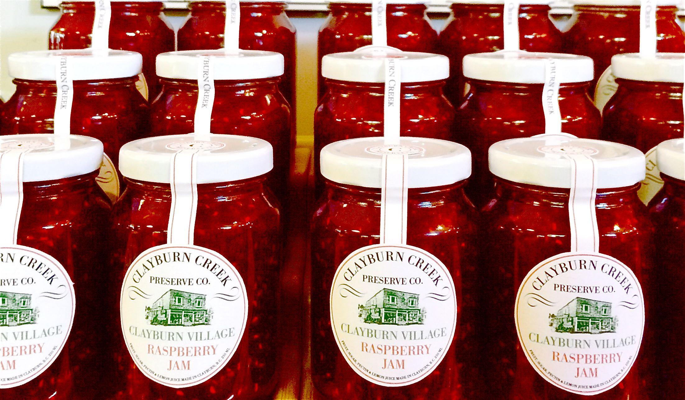 Fresh Raspberry Jam Made Onsite At Clayburn Village Store Specialty Food Shop Tea Shop Raspberry Jam
