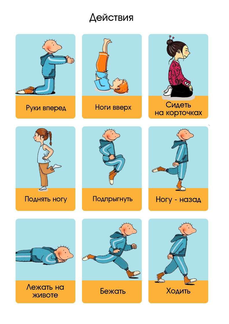Учим детей глаголам по картинкам