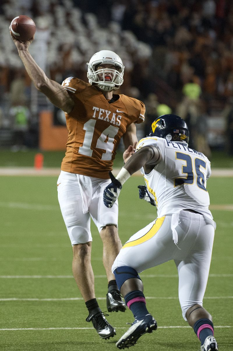 David Ash University Of Texas Previous Rivals 3 Star Qb Texas Football University Of Texas Football