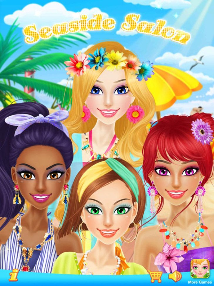 Seaside Salon App Kids app, The perfect girl