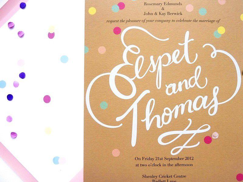 Elspet + Thomas\'s Whimsical Hand Lettered Wedding Invitations ...