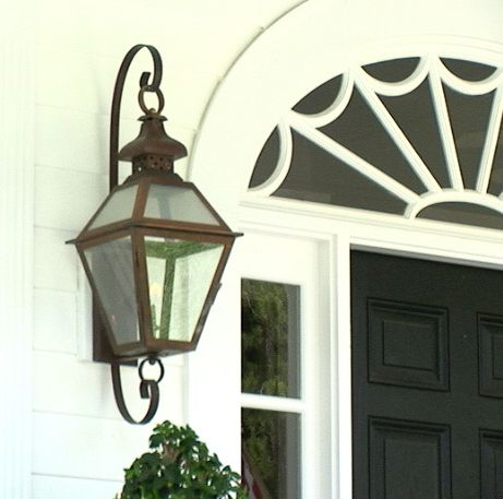 Gas electric lanterns copper lighting brass carolina lanterns