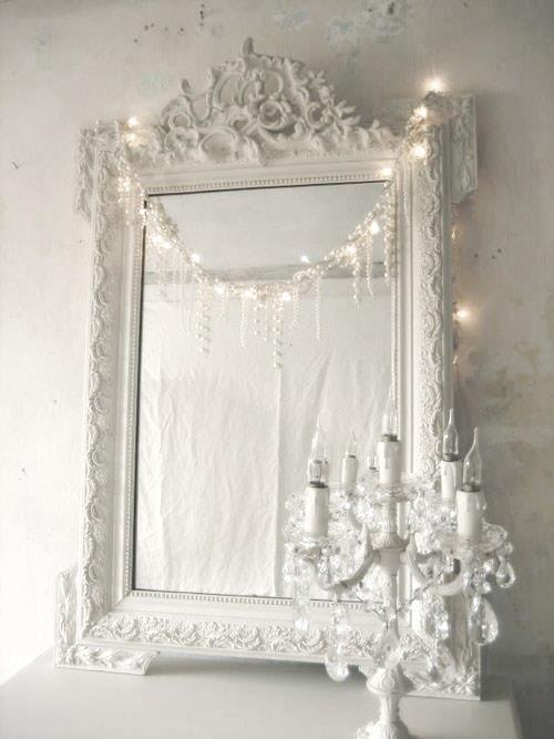 Wit - Barokke spiegel