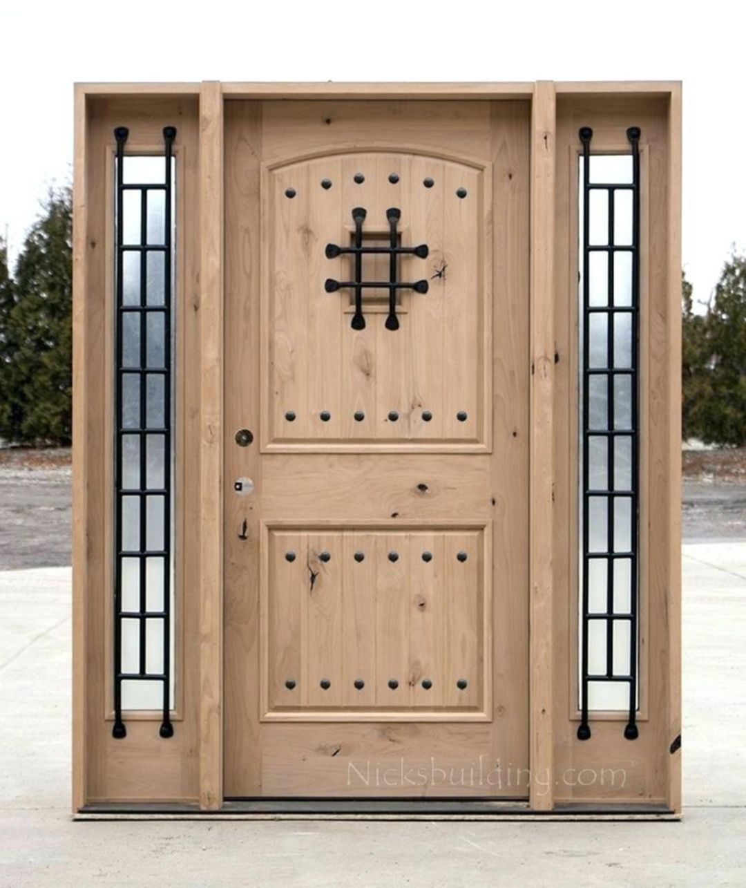 25 Spectacular Wooden Front Door Designs For Your Home Inspiration Protecciones