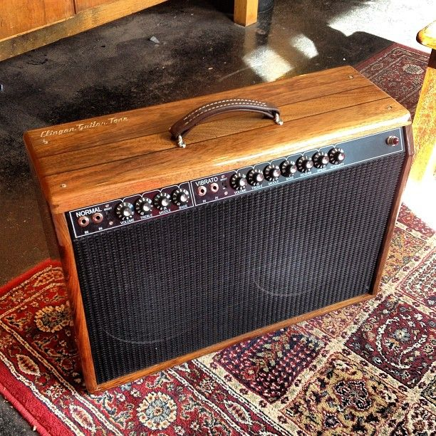 clinganguitartone's custom Blackwood cabinet for a Fender Twin ...