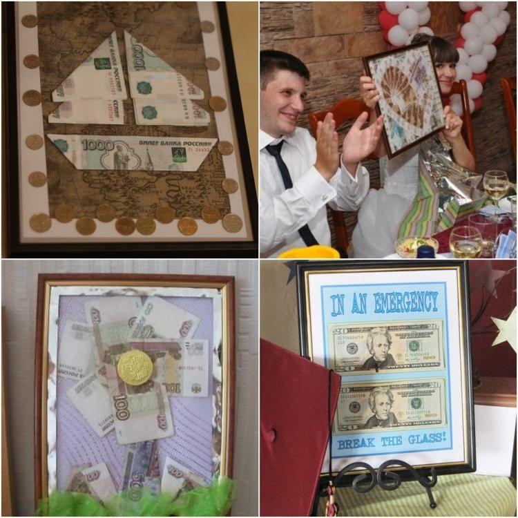 Geldgeschenke im Bilderrahmen verpacken | Hochzeit | Pinterest
