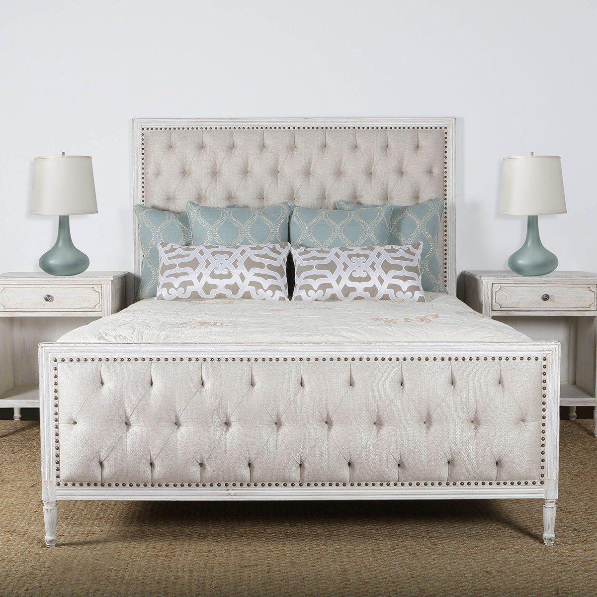 Lennox Design Hannah Tufted Bedroom Set Queen Grey