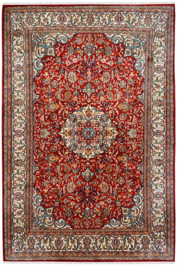 Buy Laal Kashan Jhoomar Rug Online At Best Price Silk On Silk Rugs Silk Area Rugs Silk Rug Carpet Handmade