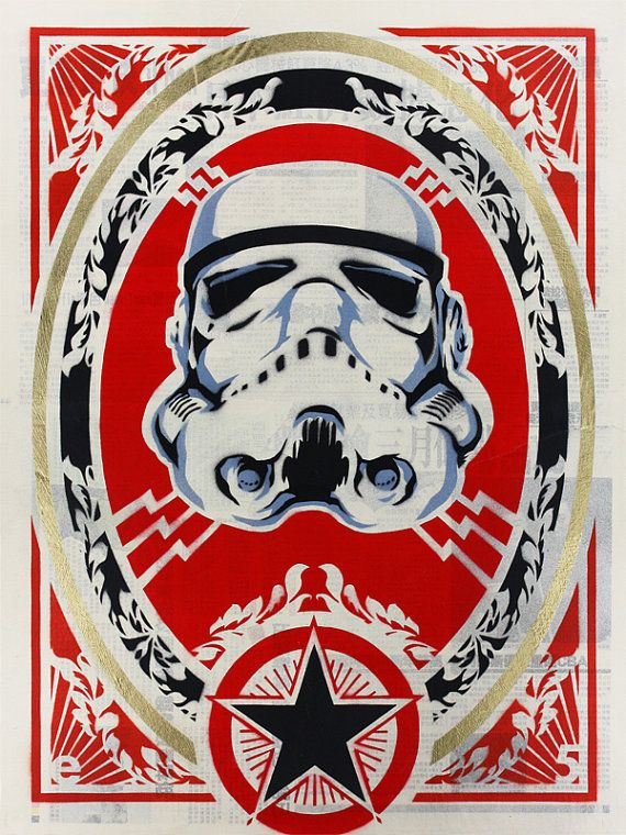 Stenciled Stormtrooper Print by epyon5 on Etsy
