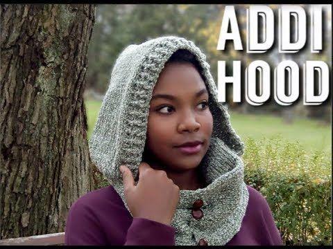 Addi Express pattern : Scarf with hood - Hooded Cowl YouTube | Addi ...