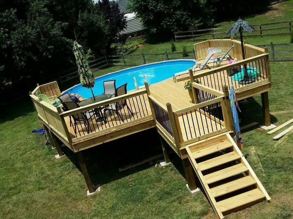 Trying To Save Money Do Your Landscaping By Yourself Above Ground Swimming Pools Above Ground Pool Landscaping Above Ground Pool Decks