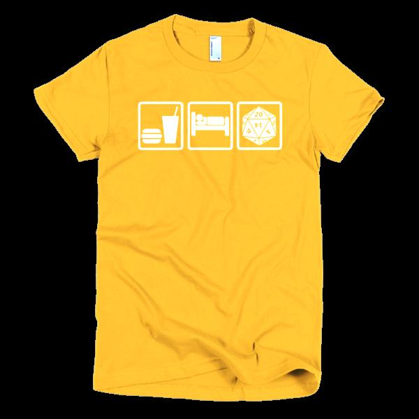 Eat Sleep Role Slim Fit Women's T-Shirt