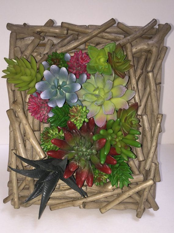 FOR TIFFANY - Vertical Succulent Garden, Artificial Succulent Planter, 3D Wall Art , Succulent Arrangement, Succulent Gift OOAK Succulent Wall Art 8 x 10 Vertical by OOAKHomeAccents on EtsyOOAK Succulent Wall Art 8 x 10 Vertical by OOAKHomeAccents on Etsy