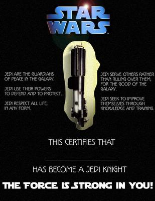 jedi certificates