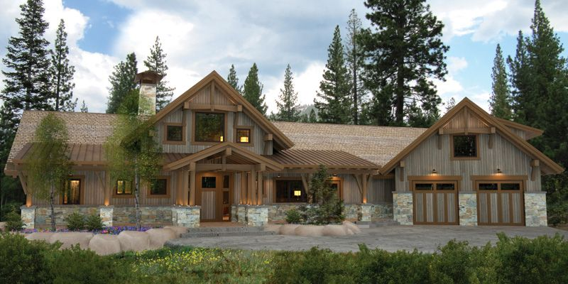 Mixed media and hybrid timber frame house plans archives for Timber frame hybrid house plans