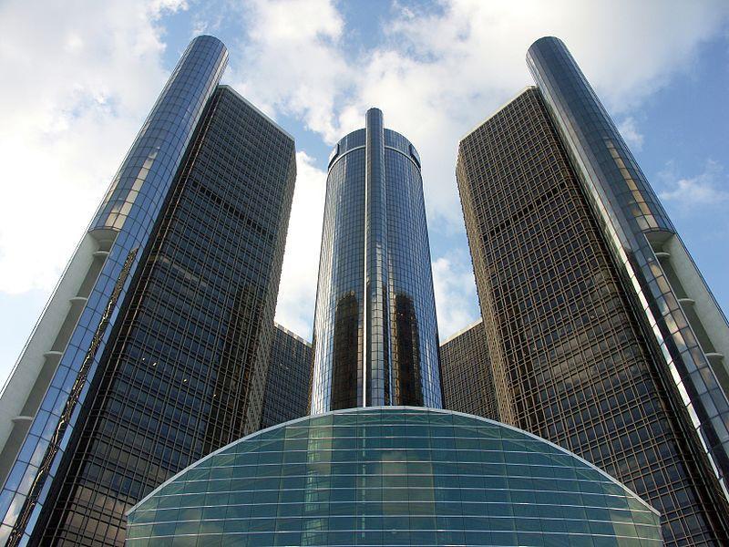 Gm World Headquarters In Detroit Renaissance Center General