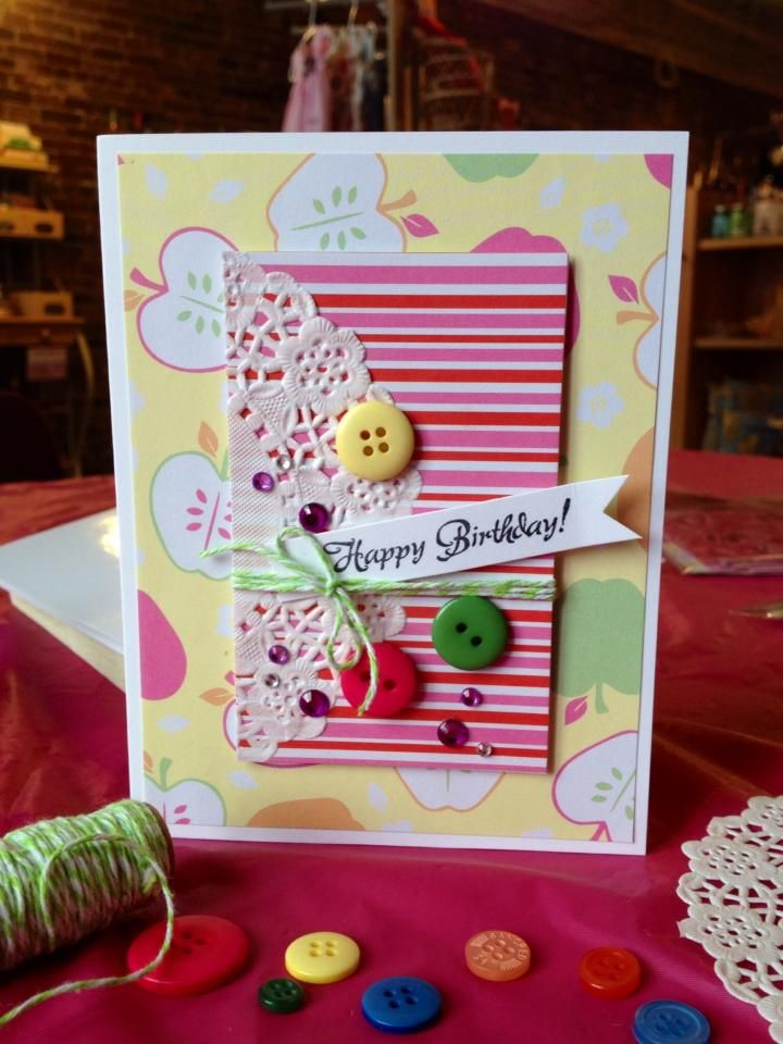 Birthday Card I Made Using All Supplies From The Dollar Store