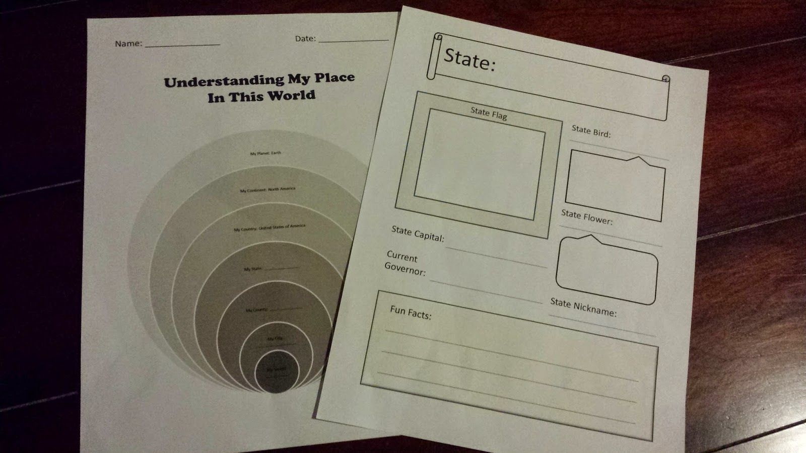 Usa States Study Notebooking Page And Social Stu S