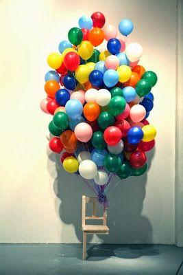 Instalación con globos