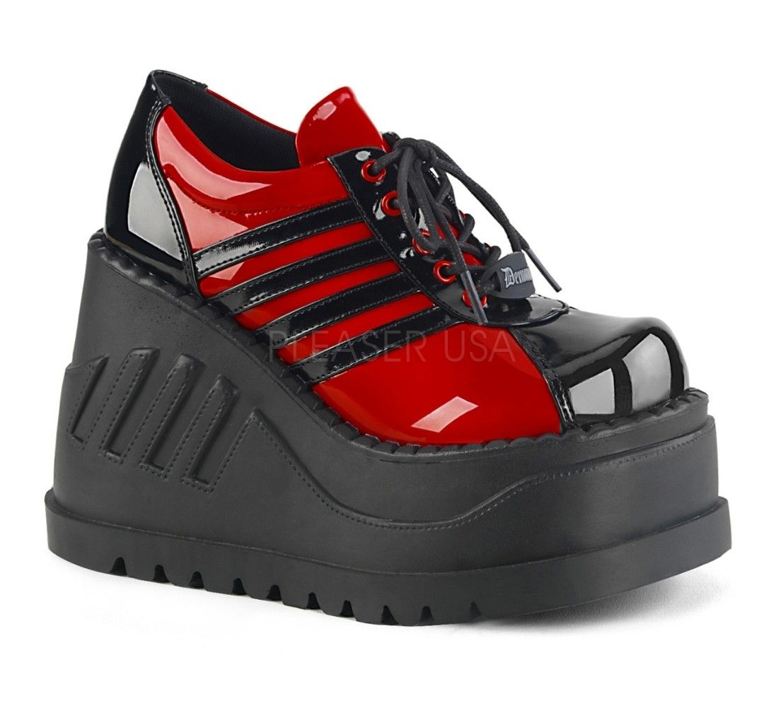 Black Wedges Platform Strappy Goth Punk Sandals Demonia Womans Shoes 7 8 9 10 11