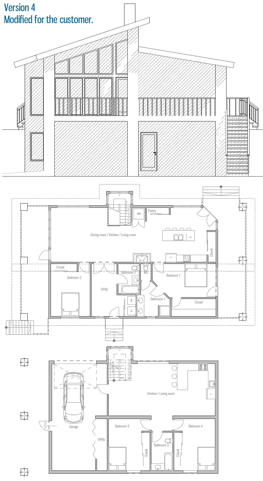House Design House Plan Ch319 41 Small House Plans How To Plan Architectural House Plans