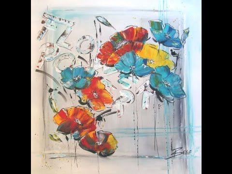 Acrylmalerei Fur Anfanger Blumen Painting For Beginners Flowers