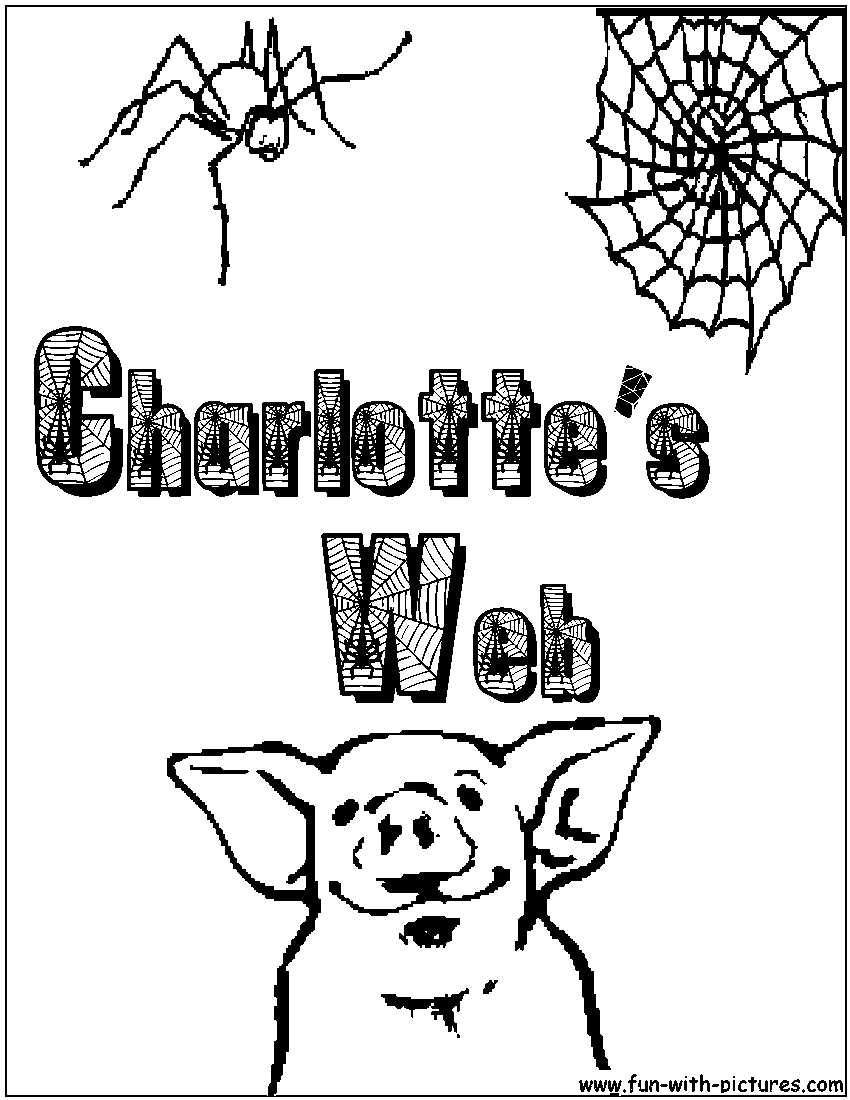 charlottes web character coloring pages - photo#26