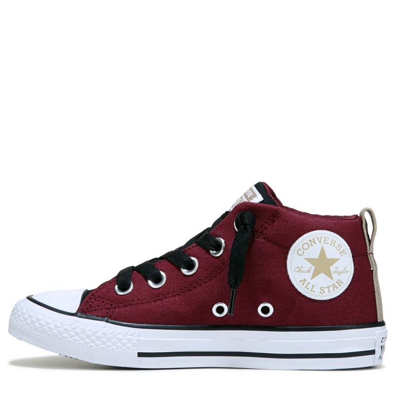 62c9c20e4666 Converse Kids  Chuck Taylor All Star Street Mid Top Sneakers (Dark Burgundy  Black)