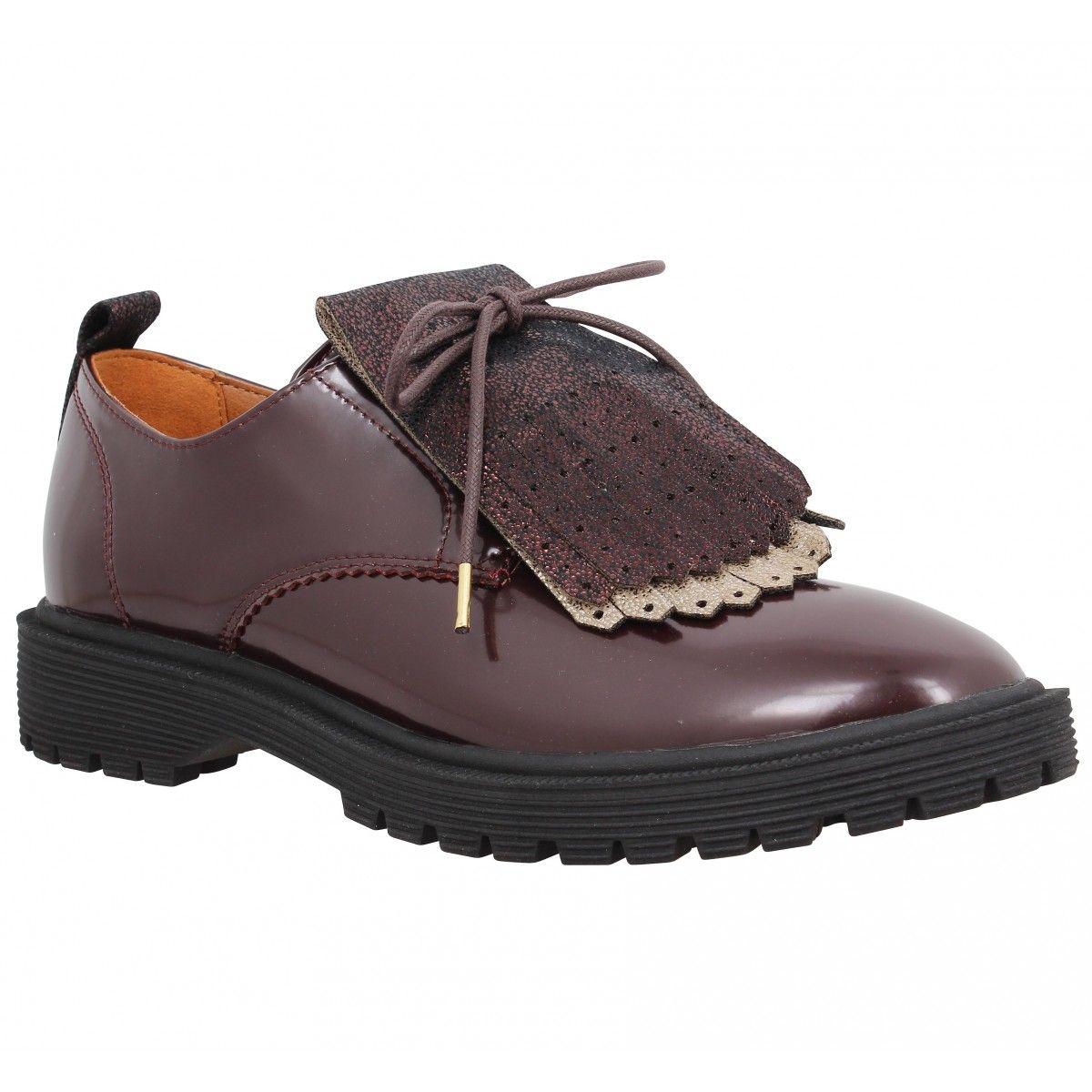 Chaussure Armistice pour dames Rock Derby en noir brillant. evZDG5jj