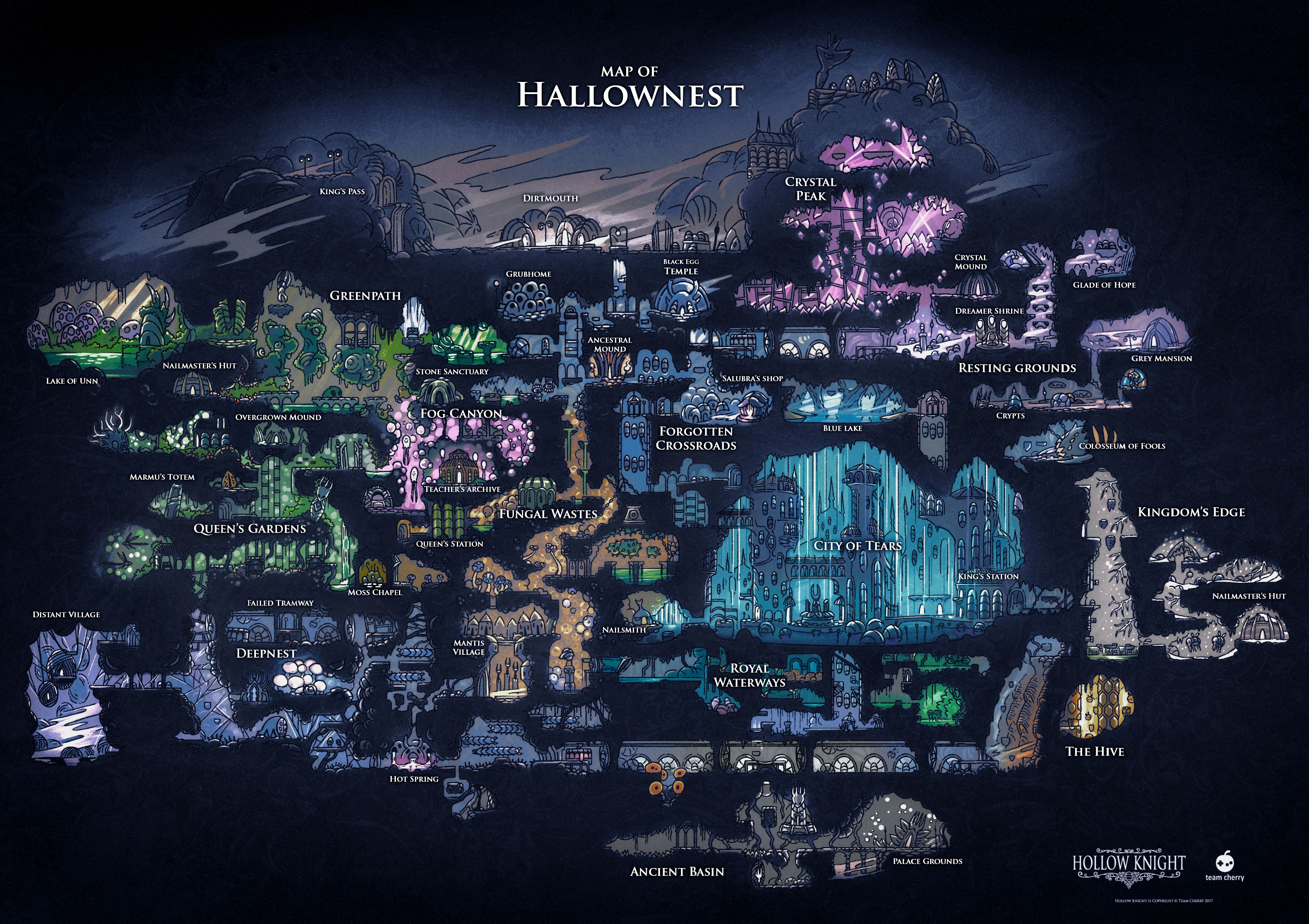 The World Of Hollow Knight As It Exists In The Finished Game Hollow Night Knight Knight Art
