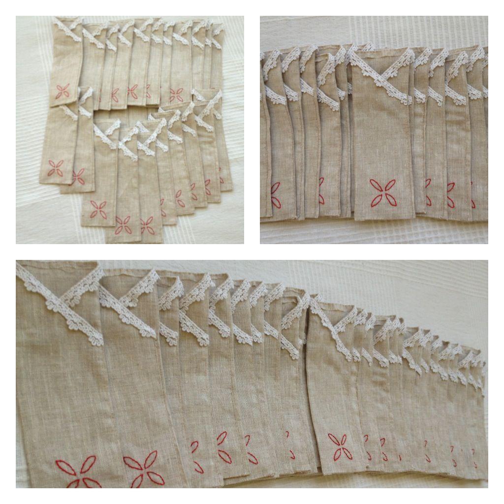 Sobres para servilletas y cubiertos