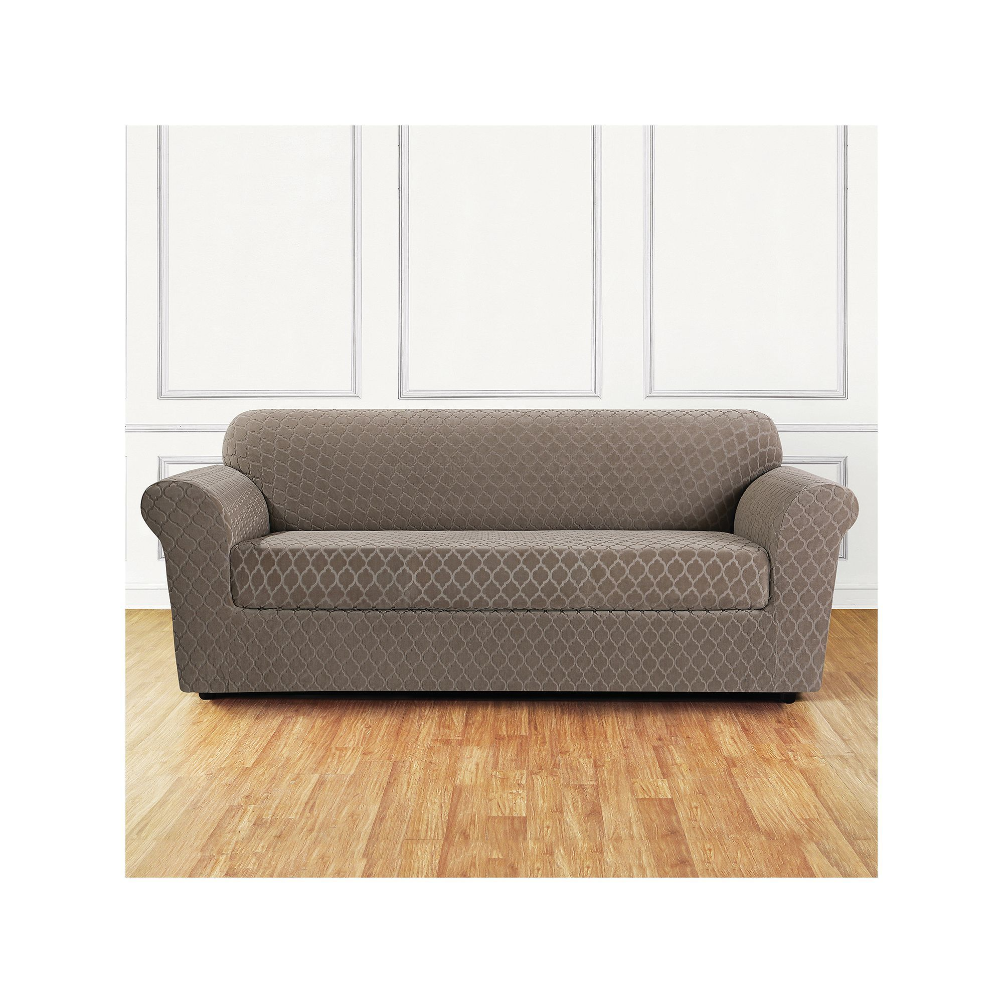 Stretch Metro Box Cushion Sofa Slipcover Slipcovered Sofa Cushions On Sofa Loveseat Slipcovers