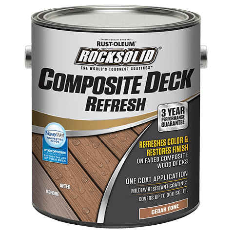 Rocksolid Composite Deck Refresh Toner Provides Protection