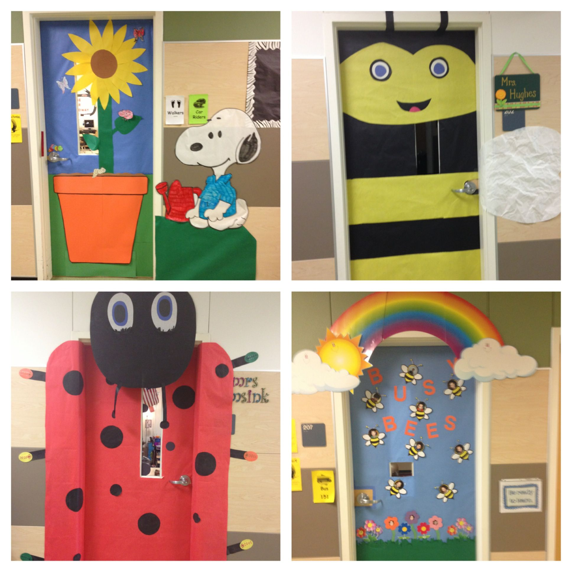Cute Door Decorations To Go With A Bug And Garden