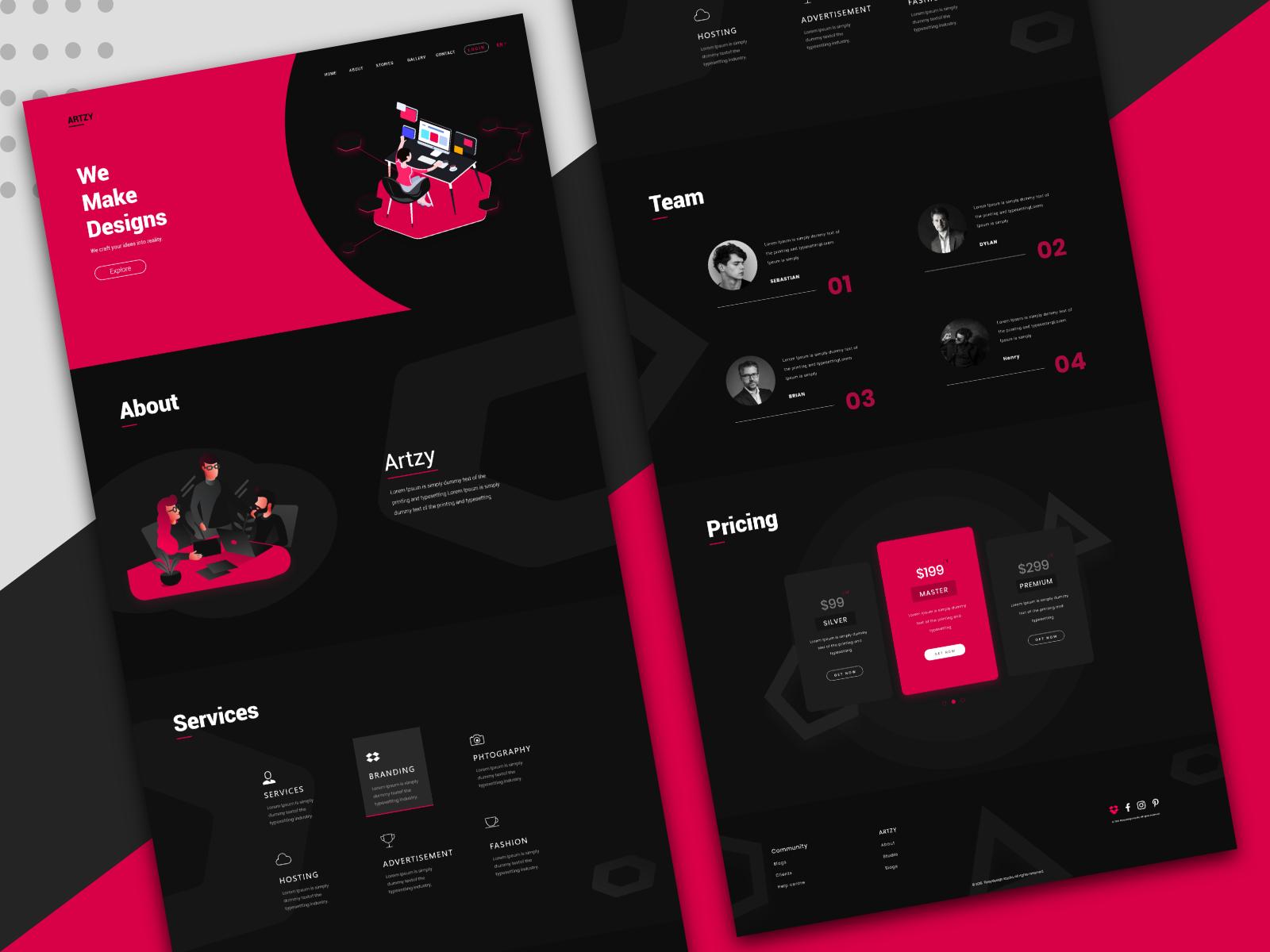 Artzy Digital Agency Landing Page Page Design Landing Page Design Digital Agencies