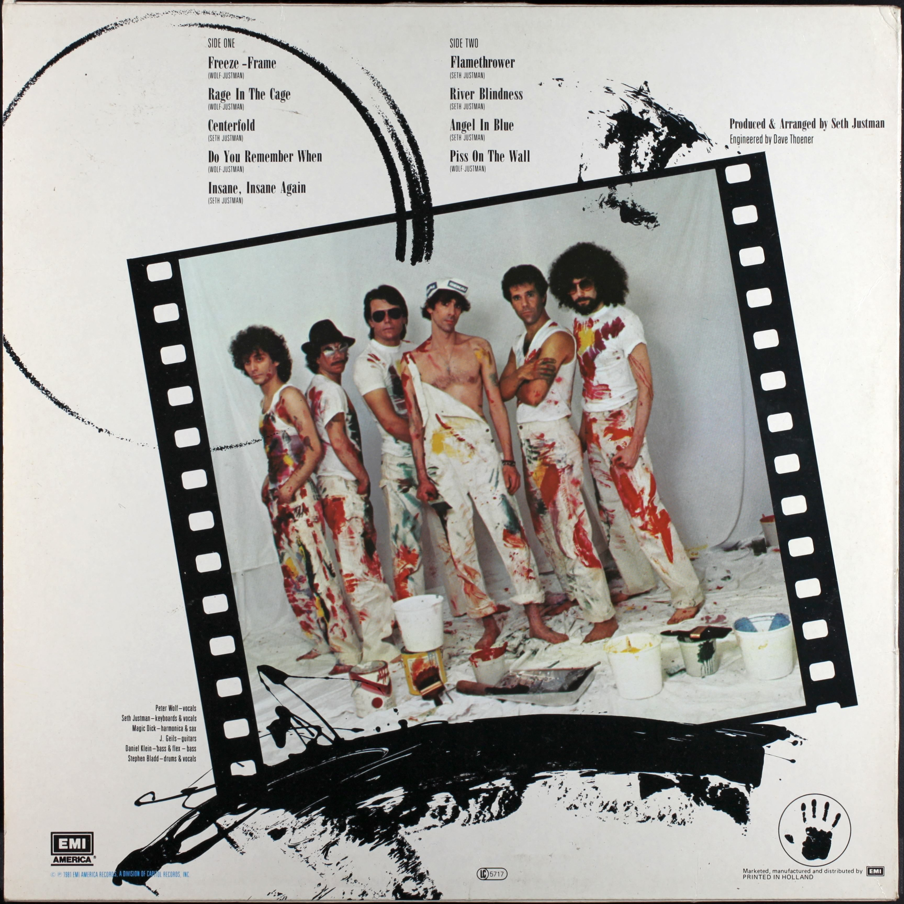 The J. Geils Band - Freeze Frame (1981) back cover | My 80s Vinyl ...