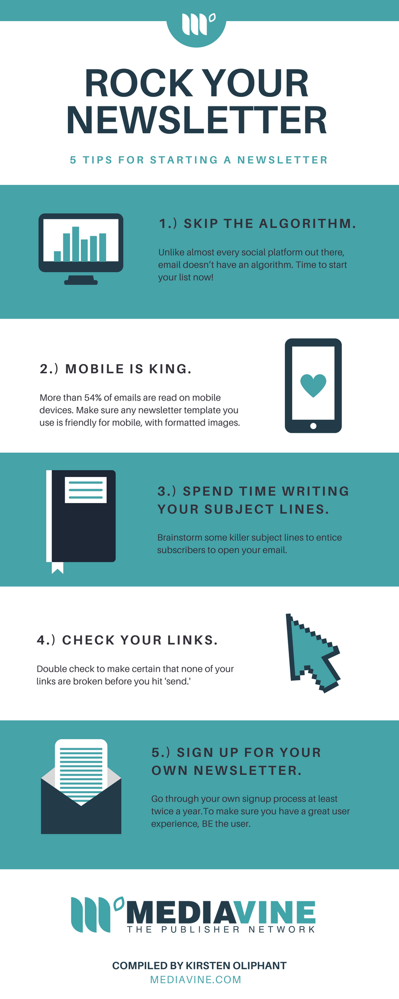 Tips for Starting a Newsletter Infographic Mediavine | Create If ...