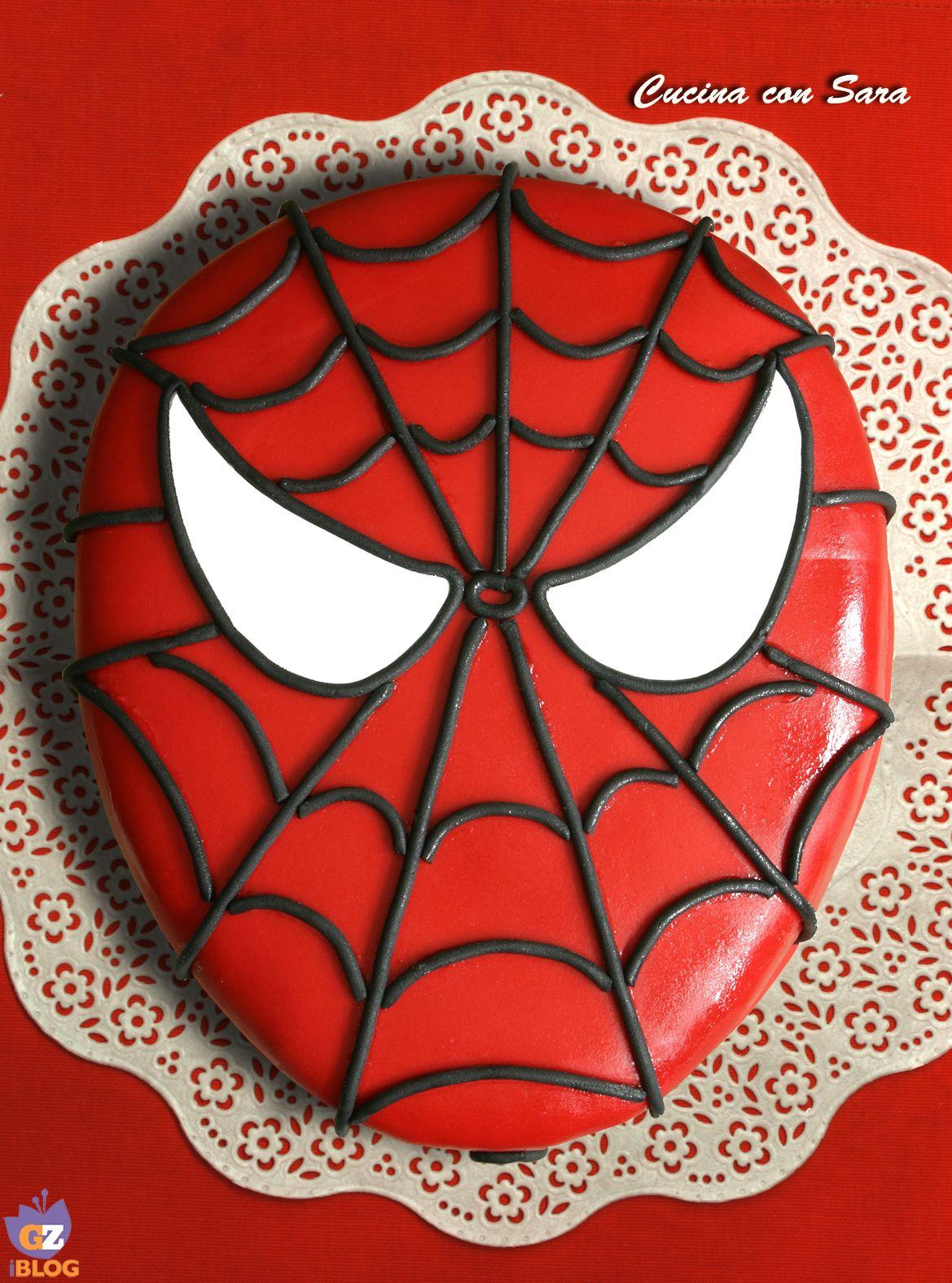 Cake design torta spiderman cucina con sara compleanno for Decorazione torte spiderman