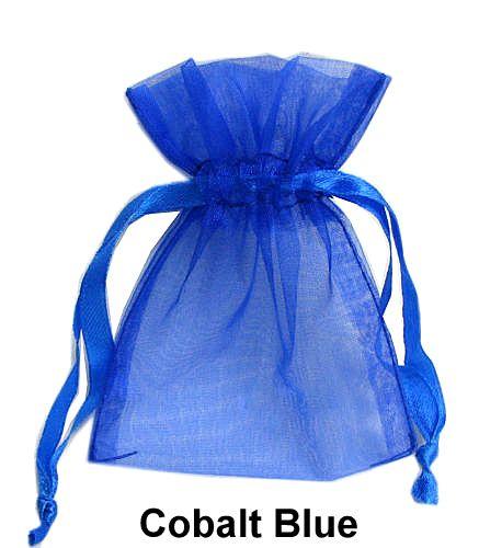 5 Count 3x4 Inch Cobalt Royal Blue Organza Wedding Favor Bags