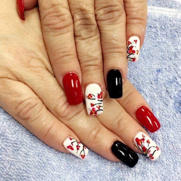 Cherry Blossom Nail Design - Cherry Blossom Nail Design Mandy Nails Pinterest Cherry