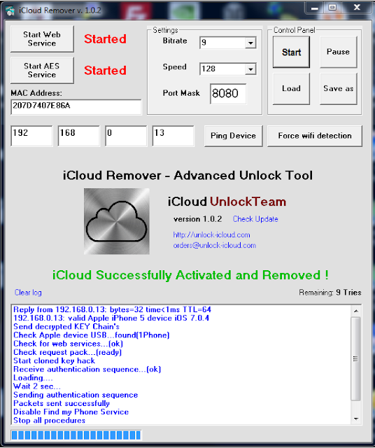 iCloud Remover 1 0 2 free download Bypass iOS 7 Activation Lock 1000